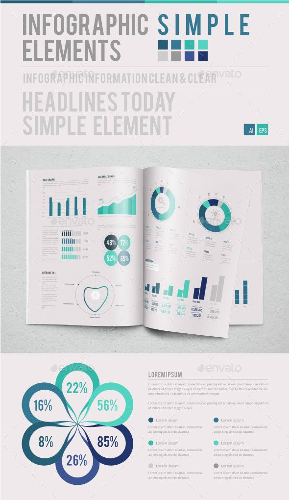 Simpel infographic elements template