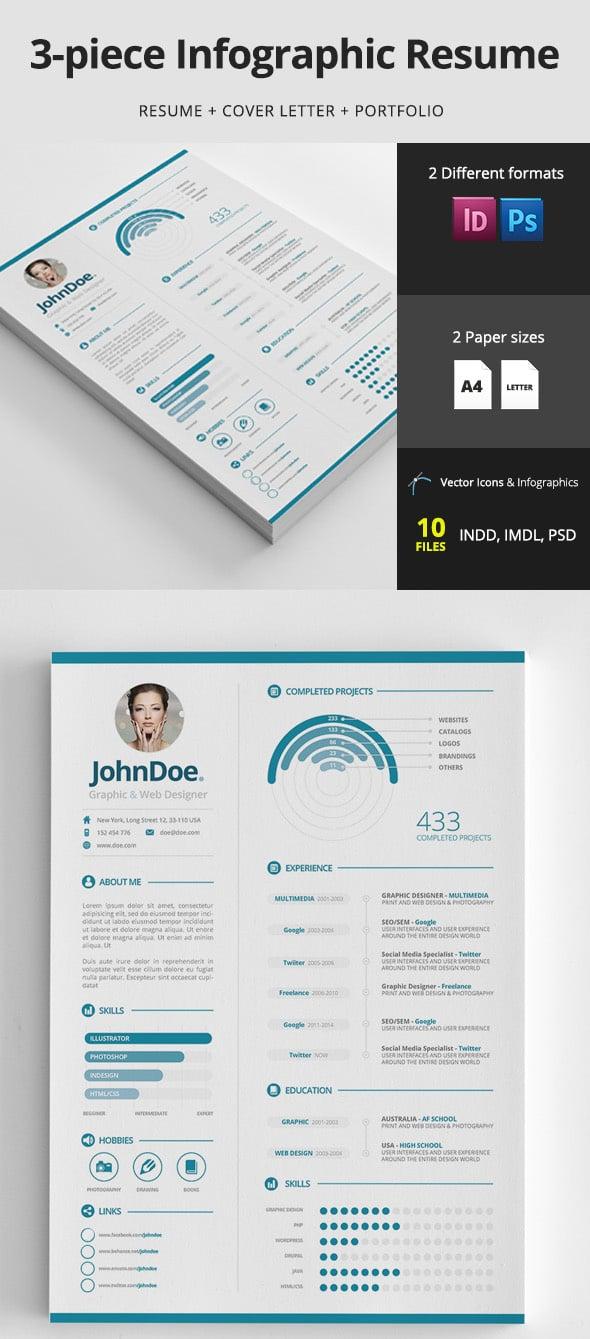 Infographic resume design template