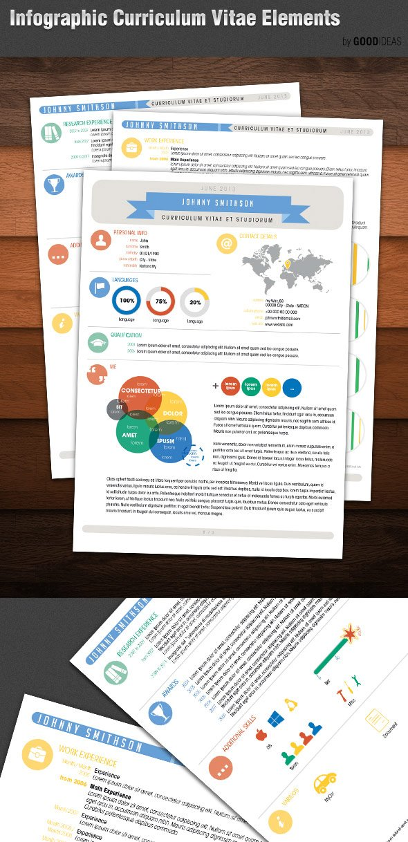 Infographic resume template cv