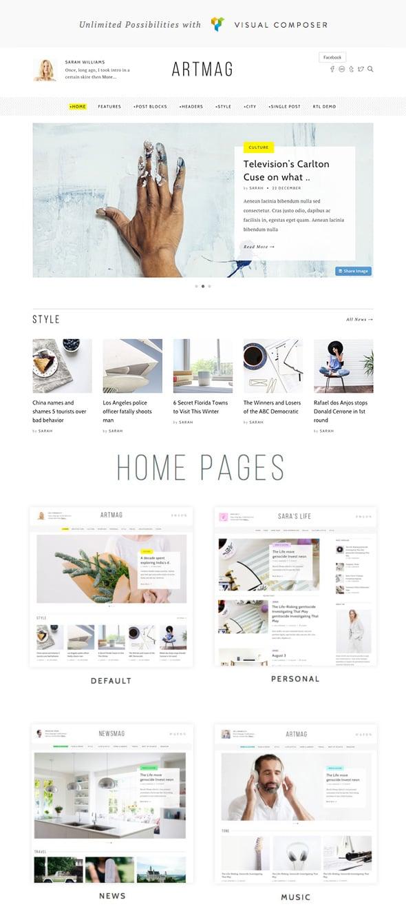 Artmag New WordPress Theme - 2016