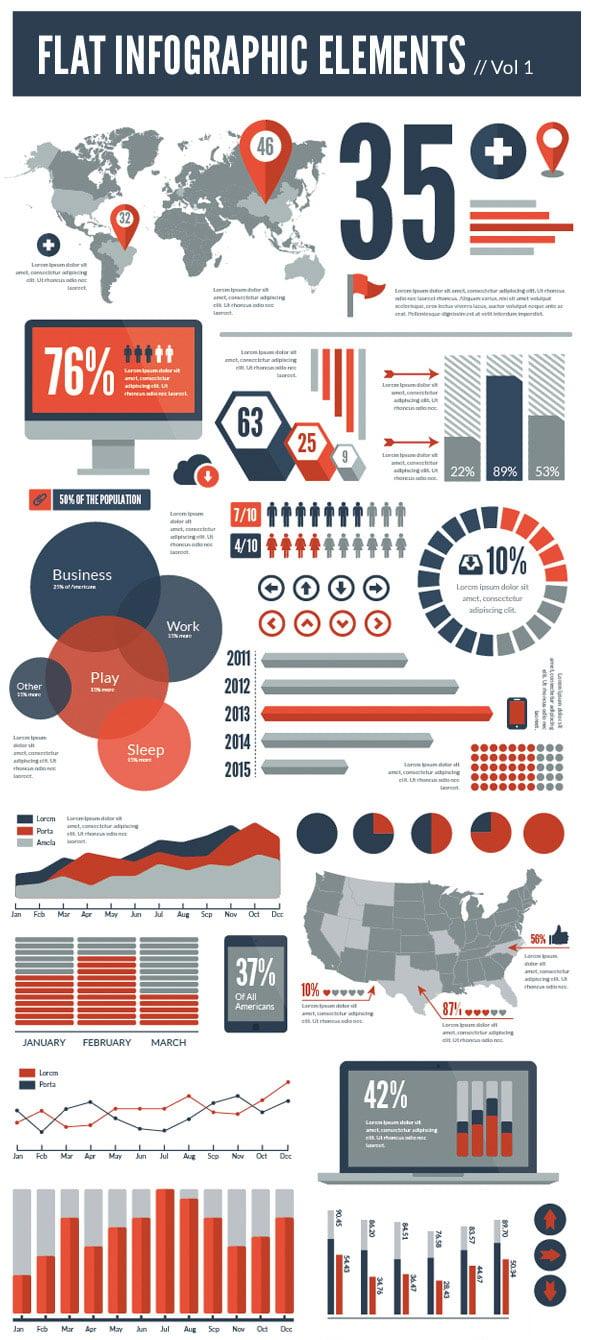 Flat Vector Infographic Design Template