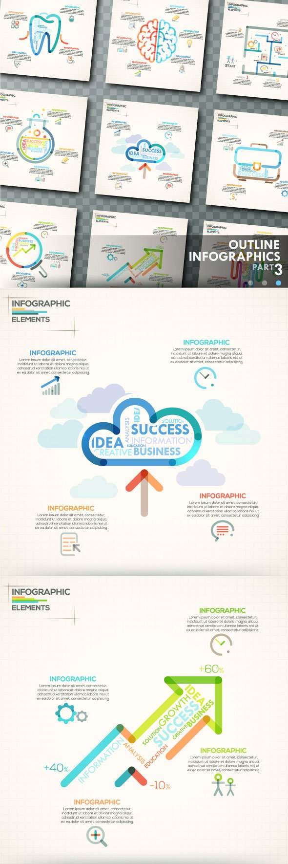 Outline Infographics Template
