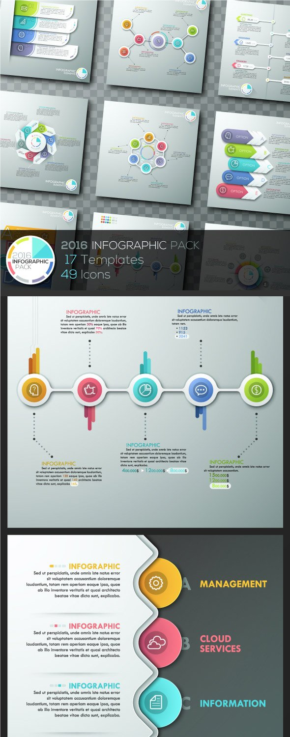 2016 Infographics Template Pack