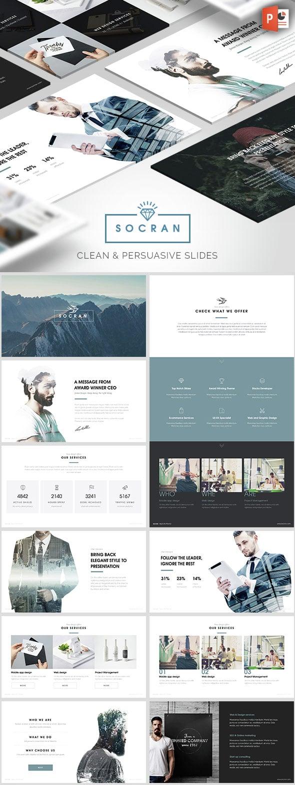 Socran - Clean Modern PPT Template