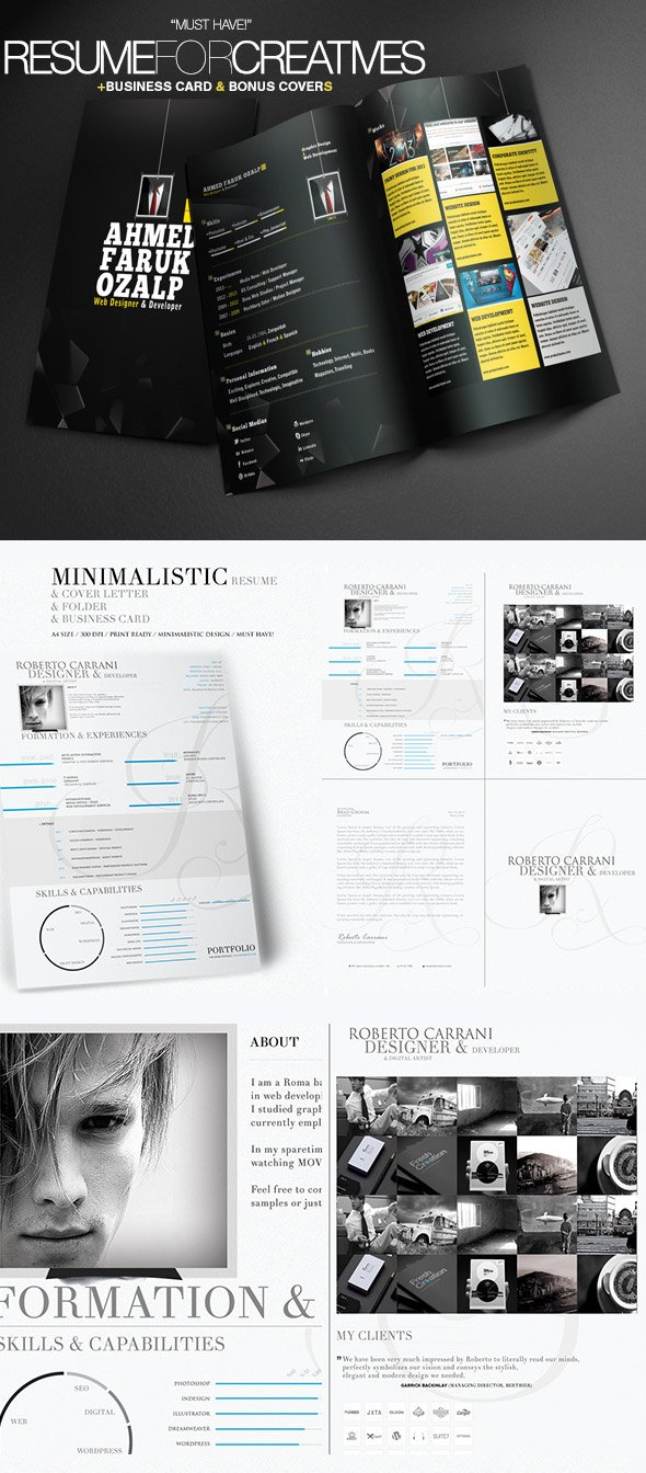Creative Resume Templates 2 in 1