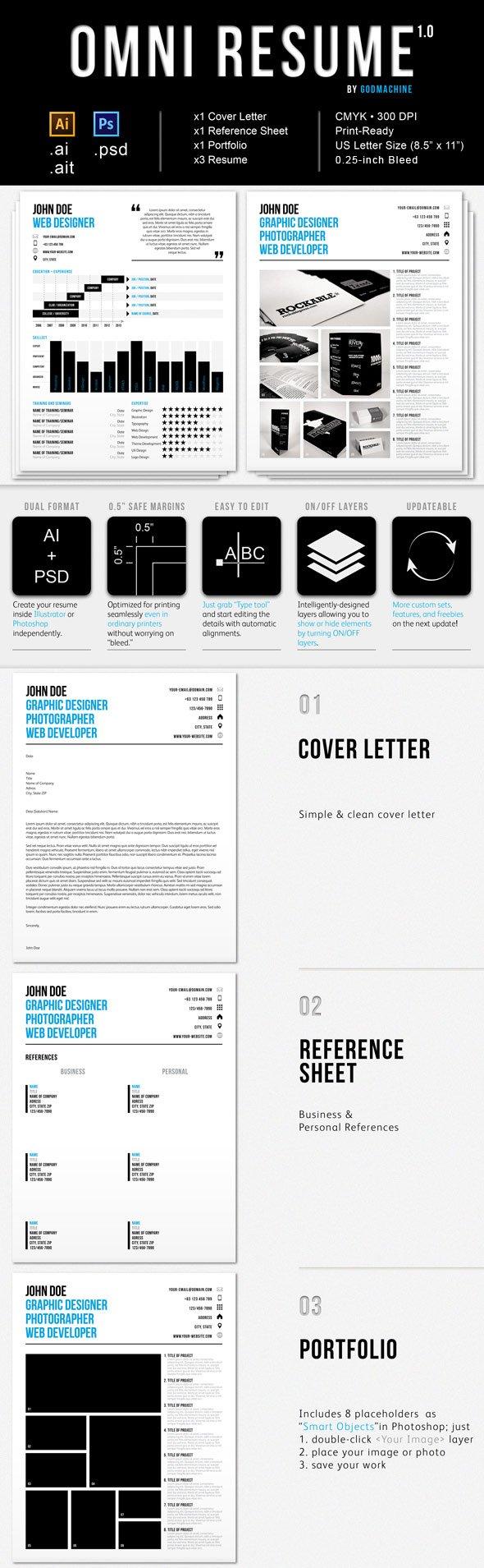 Omni Infographic Resume With Folio