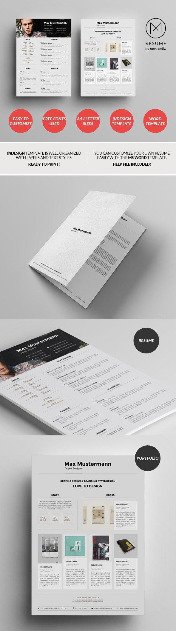 Structured Creative Resume Template Design