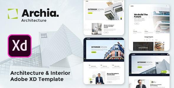 Archia - Architecture  Interior Adobe XD Template