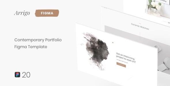 Arrigo  Contemporary Portfolio Figma Template