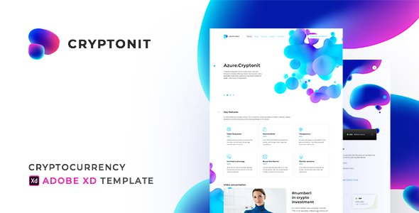 Cryptonit - Cryptocurrency Adobe XD Template