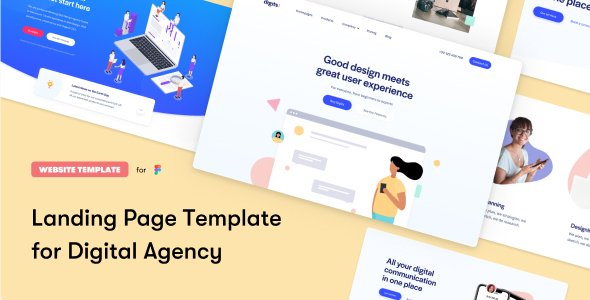 Digits Landing Page Template