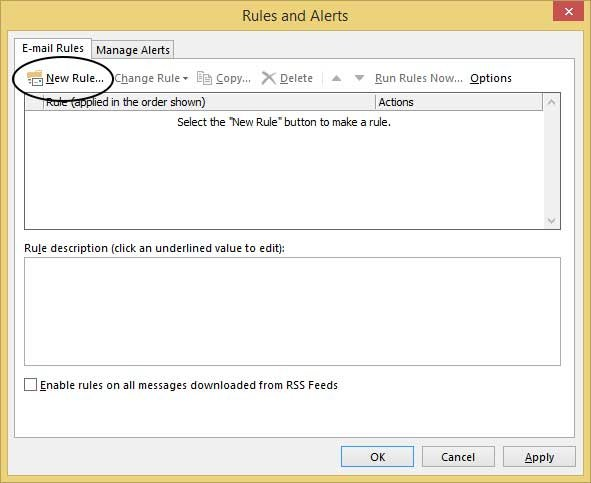 rules and alerts dialog
