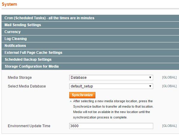 Selecting Media Database to Synchronize