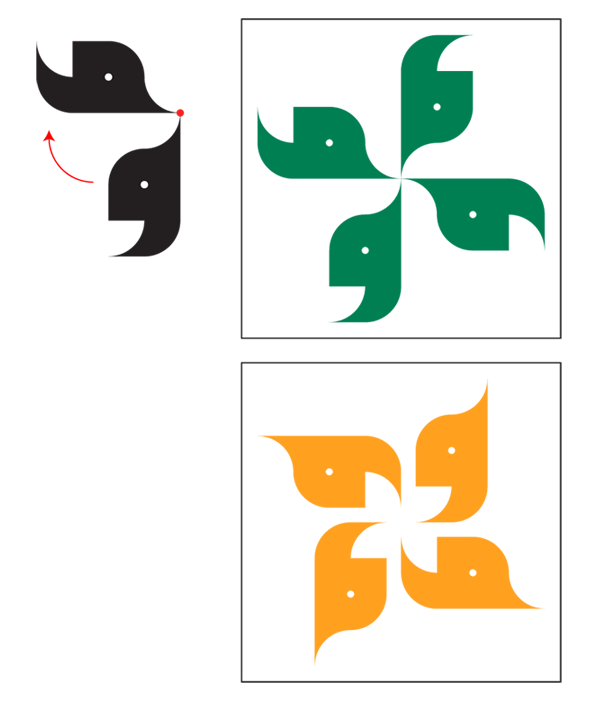 Arabic Calligraphy Ornaments Tutorial Rotation