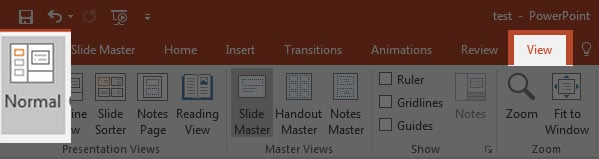 Normal View in PowerPoint