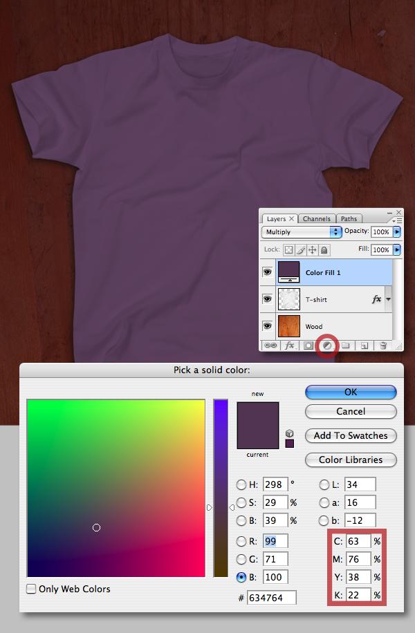 Create a T-shirt Mockup