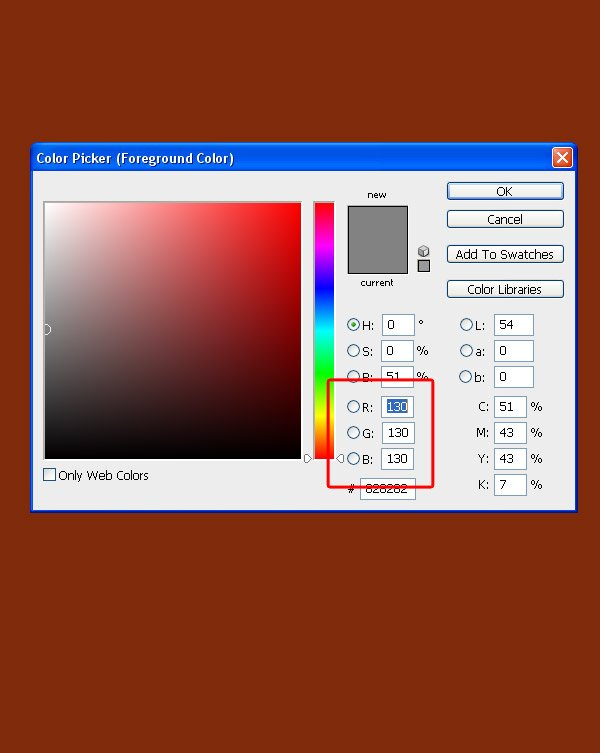 Fill a layer with gray