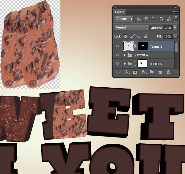 Add Texture to the Letter W