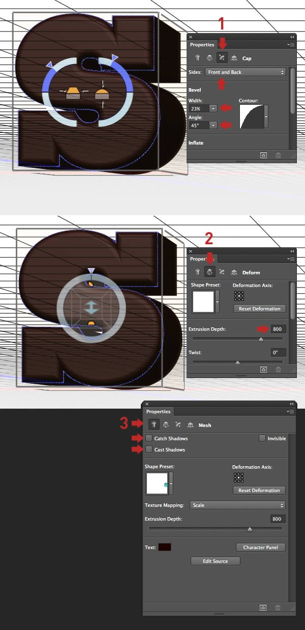 Create 3D Letters
