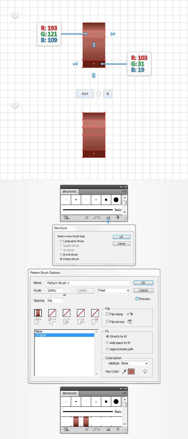 Create a pattern brush