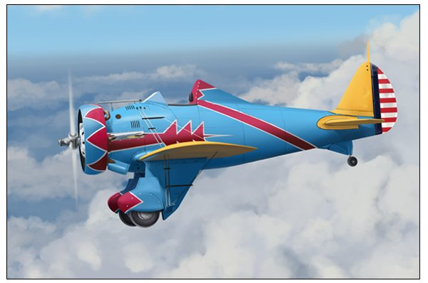 Place a duplicate copy of the landing gear behind all other existing layers and darken it into the aircrafts shadow At this stage also add the red stripes to the tail and detail the tail wheel