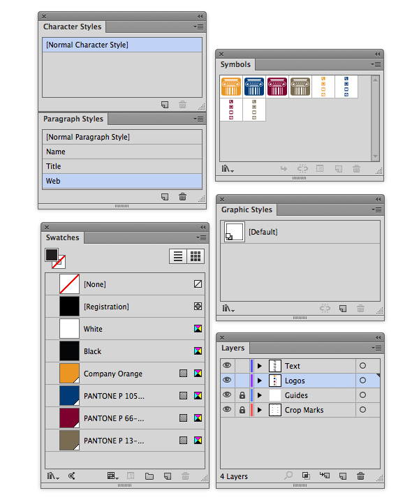template panels