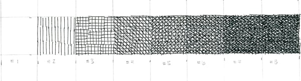 Crosshatching value scale 8