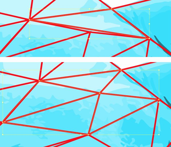 add extra triangles