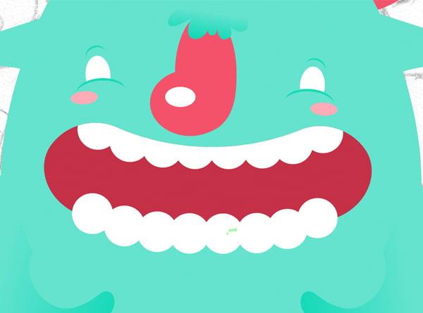Add the lower teeth