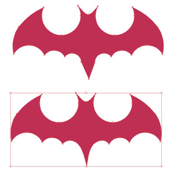edit the bat silhouette