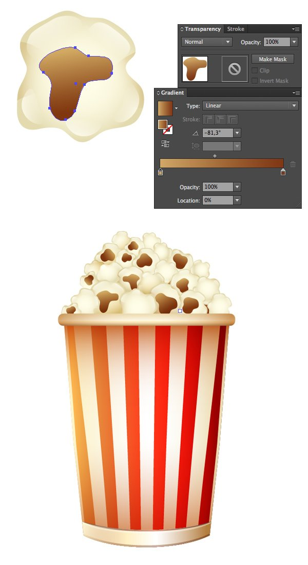 fill the bucket with popcorn