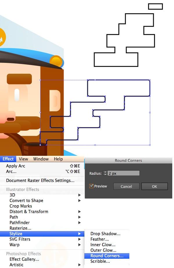 render a stylized square tobacco smoke 3
