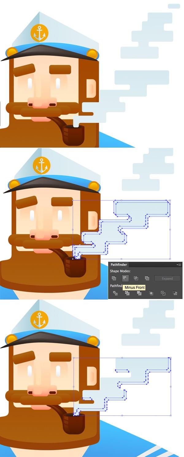 render a stylized square tobacco smoke 4