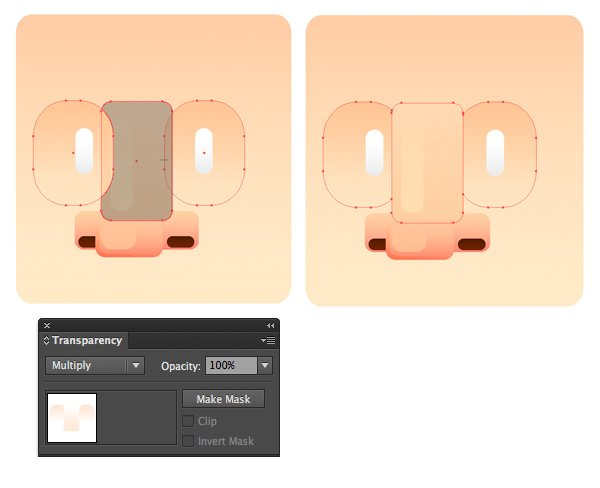 unite the shapes with shape builder tool