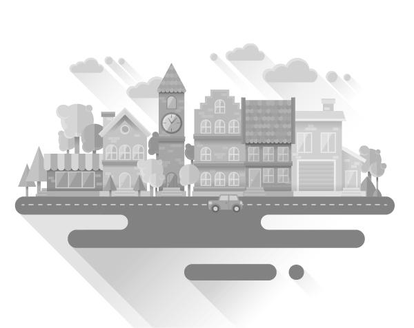Cityscape Flat Illustration final result