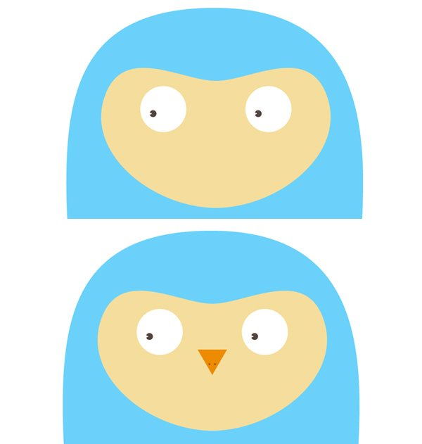 render the eyes and the beak