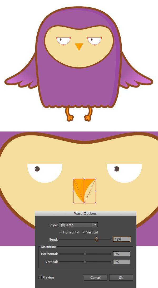 create a grumpy owl