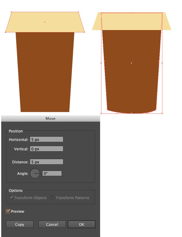 make a paper coffee cup from rectangles