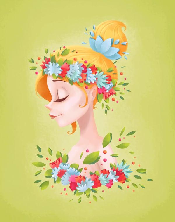 final image lady spring portrait