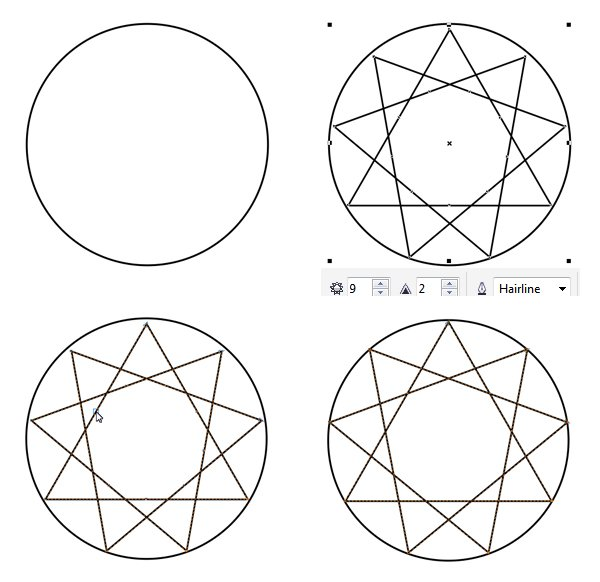 make a sapphire base with the ellipse tool and complex star