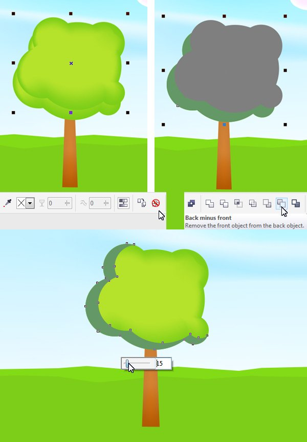 make the tree more detailed by adding a shadow