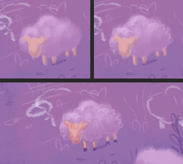color the sheep