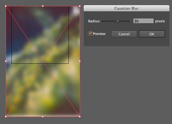 apply gaussian blur to the photo