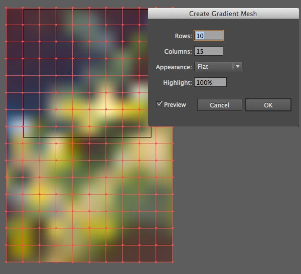 Create Gradient Mesh from our photo
