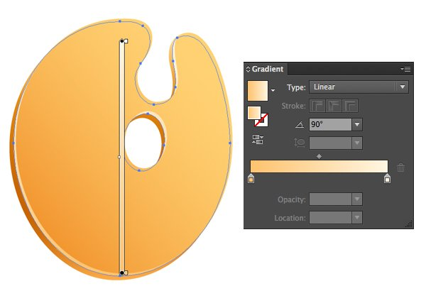 Add another copy beneath the basic shape and make lighter