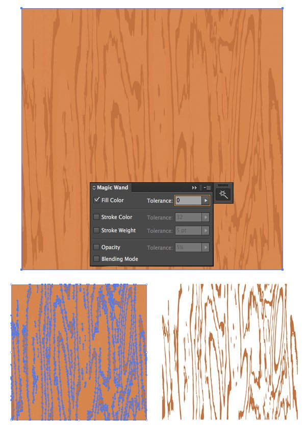 use the Magic Wand Tool to select the desired shapes
