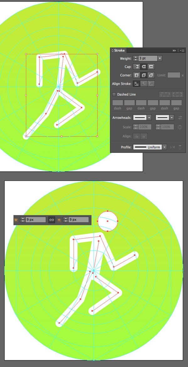 create separate lines with the pen tool