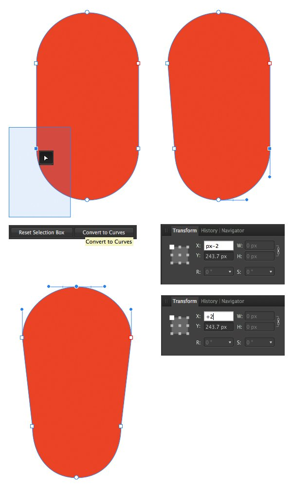 move the lower nodes in the transform panel