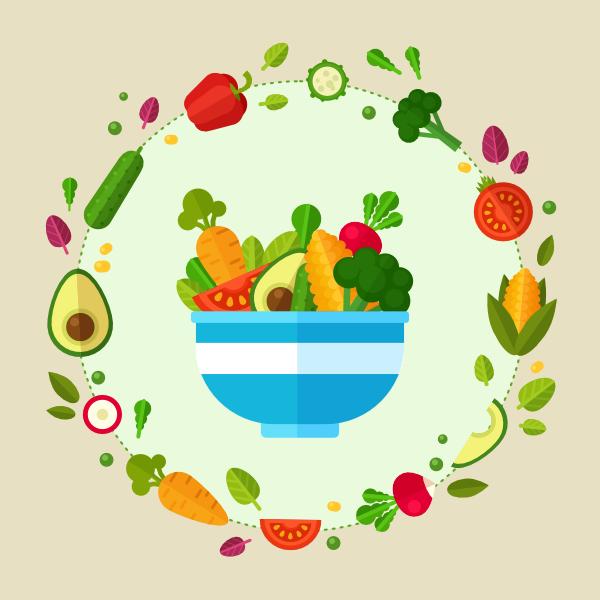 healthy vegetable poster is finished in affinity designer