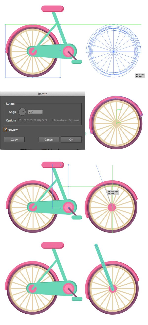 make the front wheel
